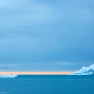 Icebergs in Qeqertarsuaq in Greenland