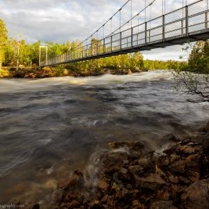 The Jäniskoski rapids in summer