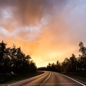 Rain and Midnight Sun in Finnish Lapland