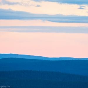 The darkest that it gets in the Midnight Sun season in Lapland