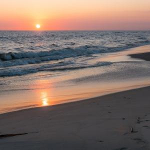 The Beach of the Atlantic Ocean in Democratic Republic of Congo