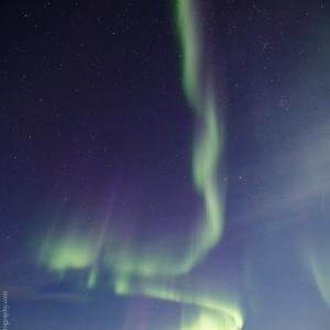Aurora in Ilulissat in Greenland