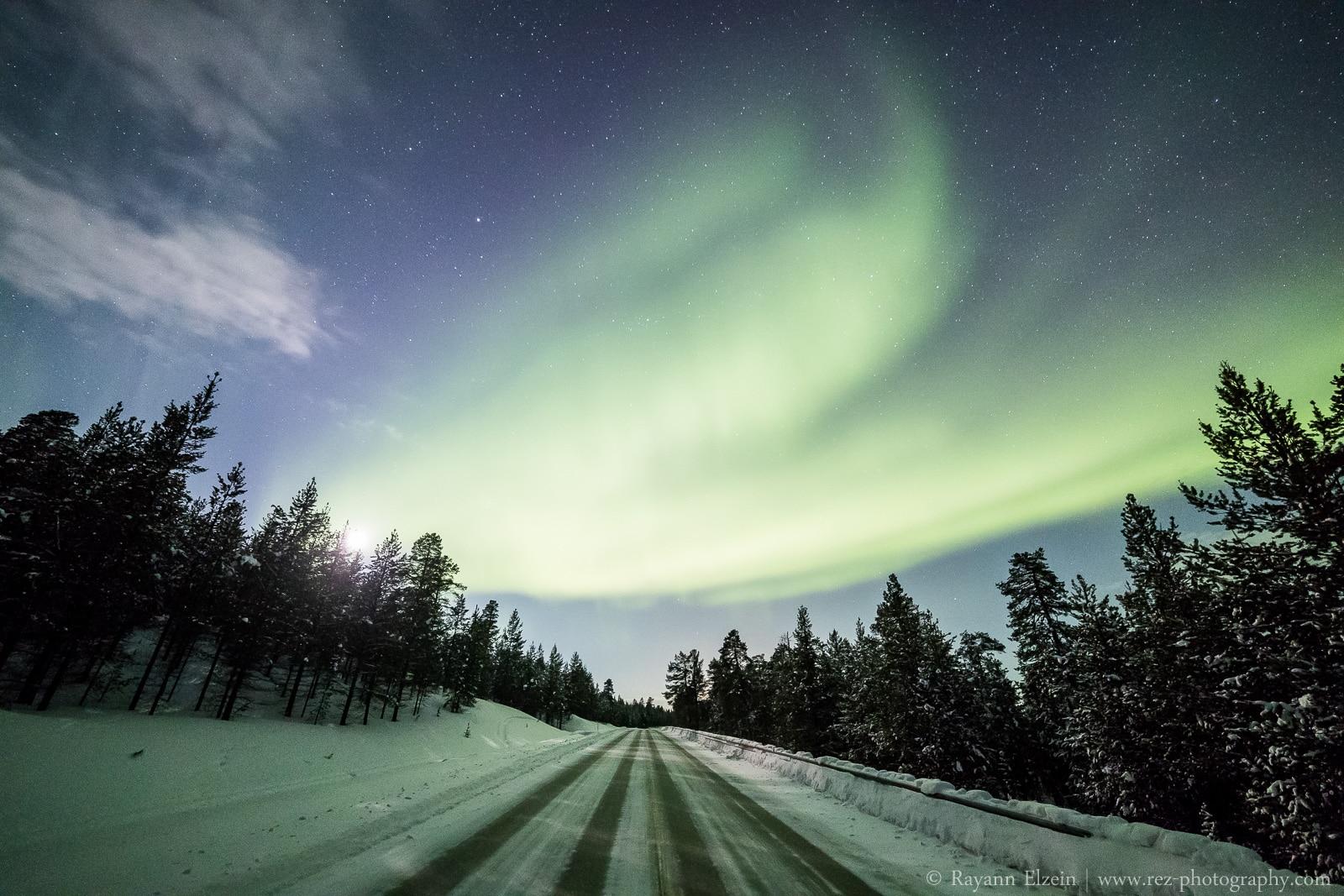 Aurora around Inari