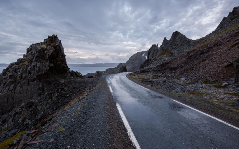 The dramatic road to Hamningberg (Norway)