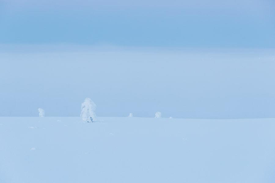 Fog disappearing from the Kaunispää fell
