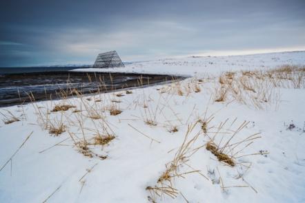 Winter landscape in Nesseby, Finnmark, Norway