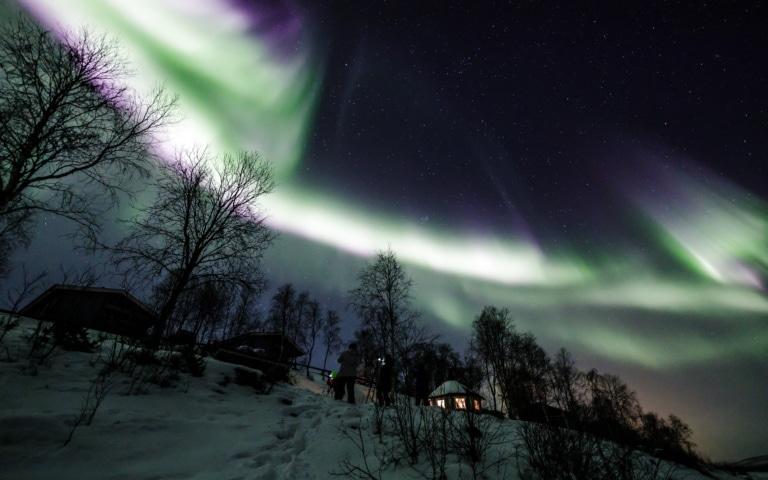 Nuit polaire et aurores boréales – Utsjoki (Laponie) – Janvier 2020