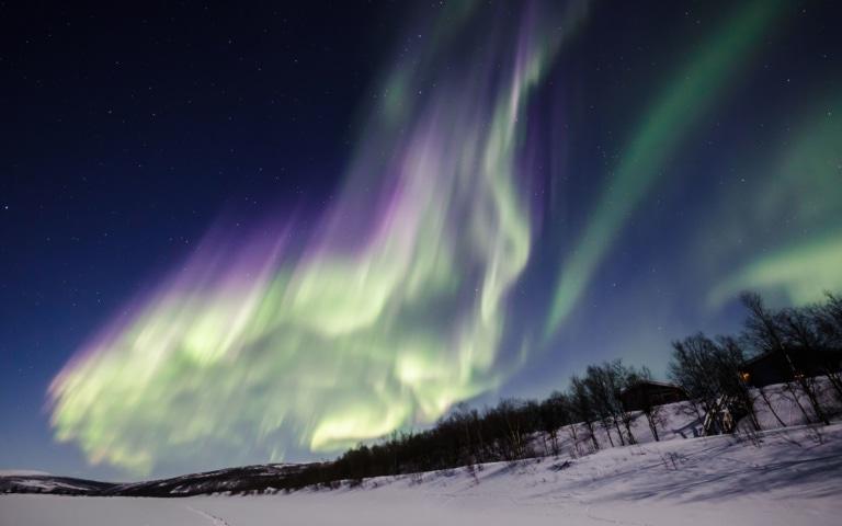 Vidéo des aurores boréales en temps réel