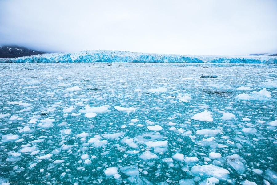 The Monaco glacier (Monacobreen) on Spitsbergen island, Svalbard.